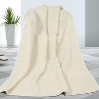 Koc pled wełniany biały, 155 x 200 cm