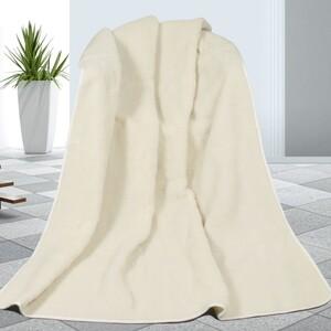 Vlněná deka bílá, 155 x 200 cm