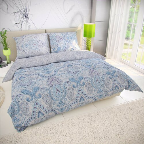 Kvalitex Lenjerie de pat din bumbac Paliza albastră, 240 x 200 cm, 2 buc. 70 x 90 cm