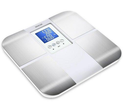 Osobní váha Sencor SBS 6015WH, stříbrná, 31 x 30 x 2,3 cm