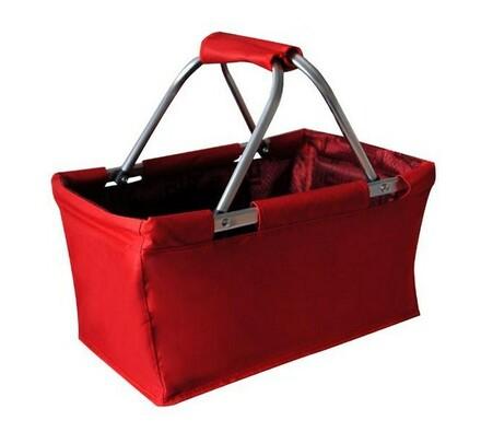 Nákupní skládací košík červený 29 l, červená