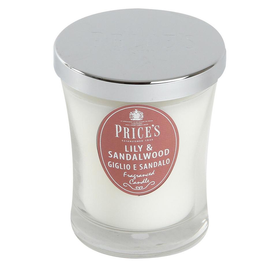 Price´s vonná svíčka ve skle lilie a santálové dřevo 9,5 cm