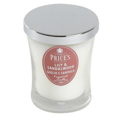Price´s vonná svíčka ve skle lilie a santalové dřevo 9,5 cm