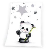 Detská deka Fynn Star Panda, 75 x 100 cm