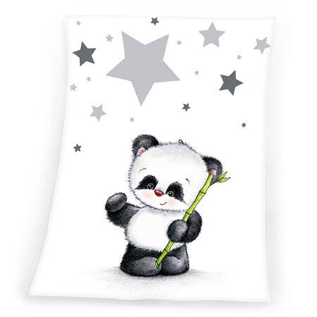 Pătură de copiii  Fynn Star Panda, 75 x 100 cm