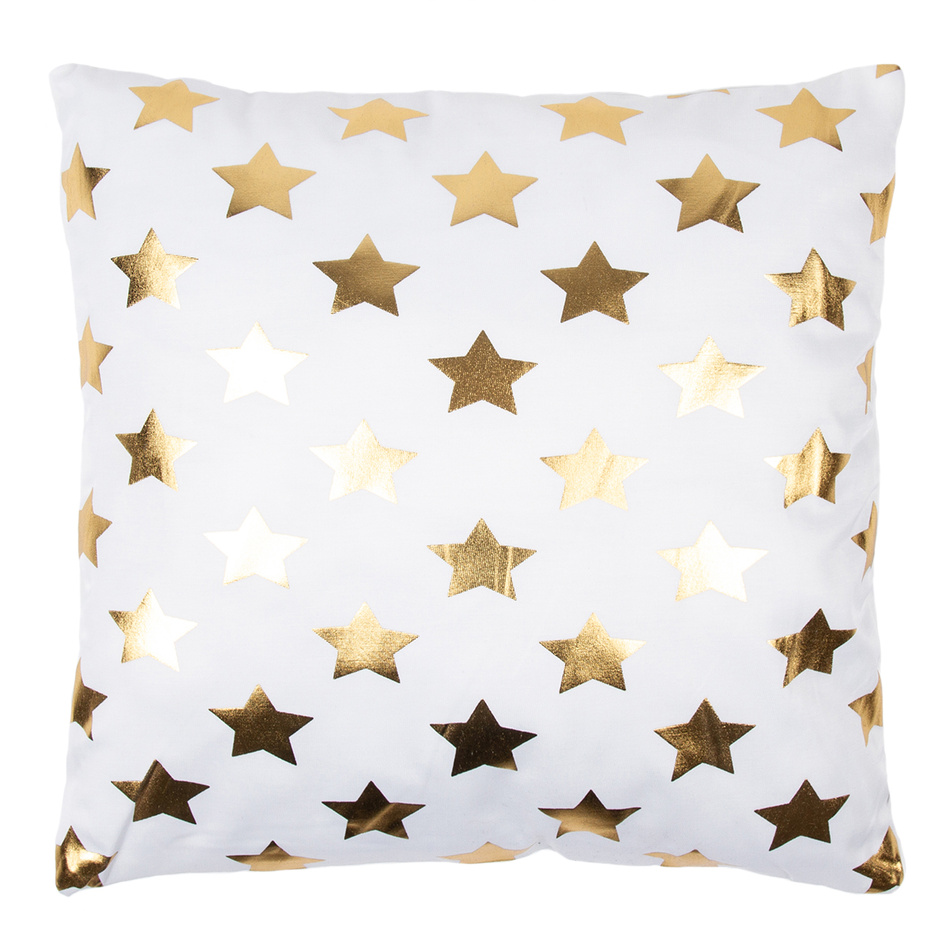 JAHU Polštářek Gold De Lux Hvězdy, 43 x 43 cm