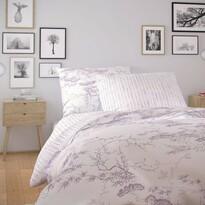 Kvalitex Nordic Disa pamut ágynemű, lila, 140 x 220 cm, 70 x 90 cm