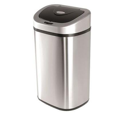 Helpmation OVAL odpadkový koš 80l stříbrná