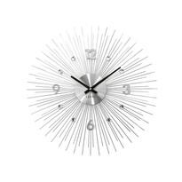 Zegar ścienny Lavvu Crystal Lines LCT1140 srebrny, śr. 49 cm