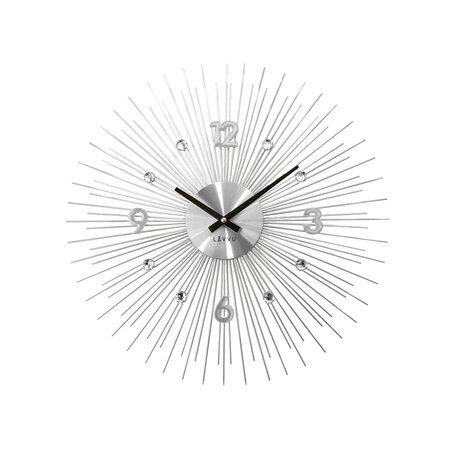 Nástěnné hodiny Lavvu Crystal Lines LCT1140 stříbrná, pr. 49 cm