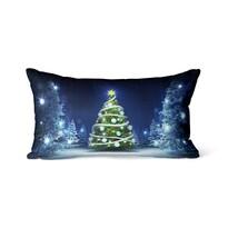 Domarex Vánoční svíticí polštářek s LED světýlky Christmas Tree, 30 x 50 cm