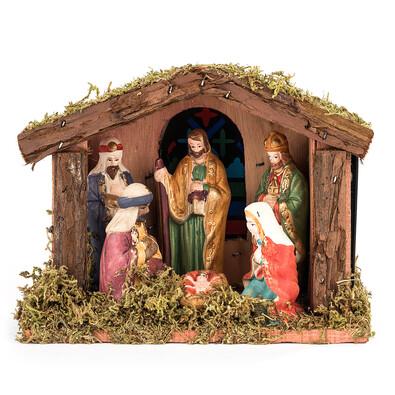 Betlém se 6 figurkami