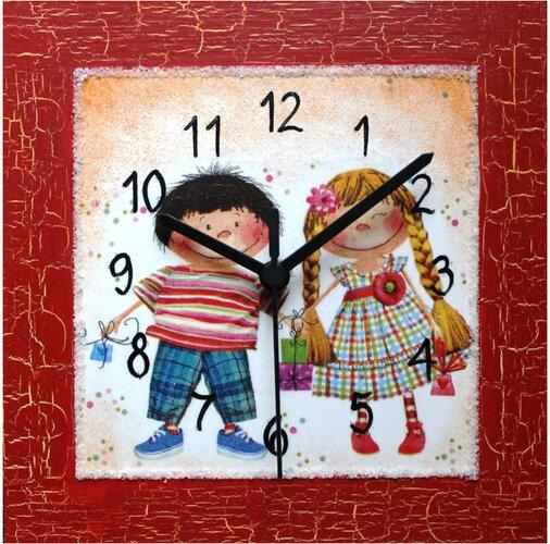 Nástenné hodiny Braček a sestrička