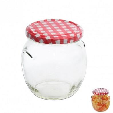 Zavařovací sklenice s víkem KARO