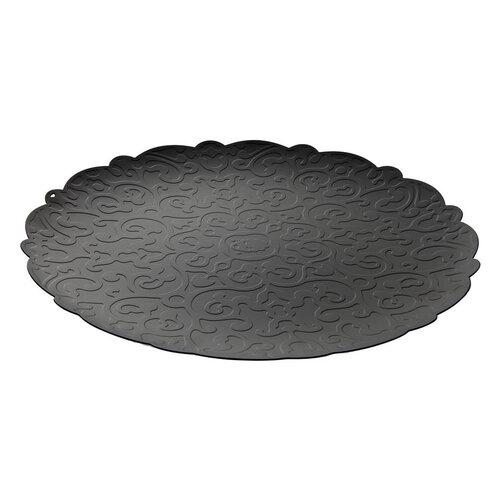Alessi Podnos Dressed 35 cm, čierny