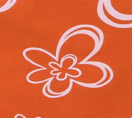 Bavlněný ubrus s květy, oranžová, 120 x 140 cm