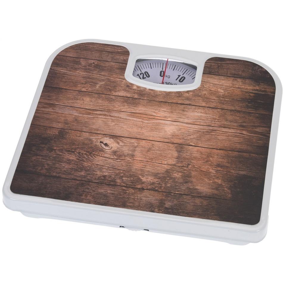 Osobní váha Plank Oak, hnědá