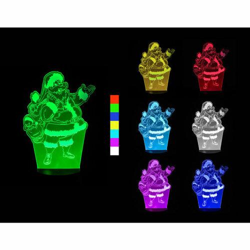 Sharks 3D LED lampa Santa Claus