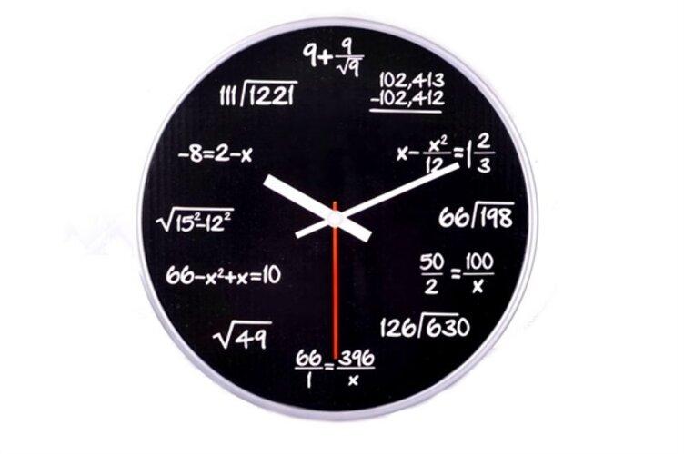 Nástenné matematické hodiny