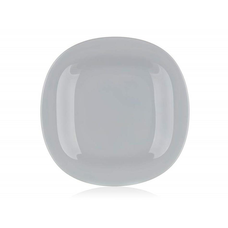 Luminarc Hranatý mělký talíř CARINE 27 cm, 6 ks, šedá