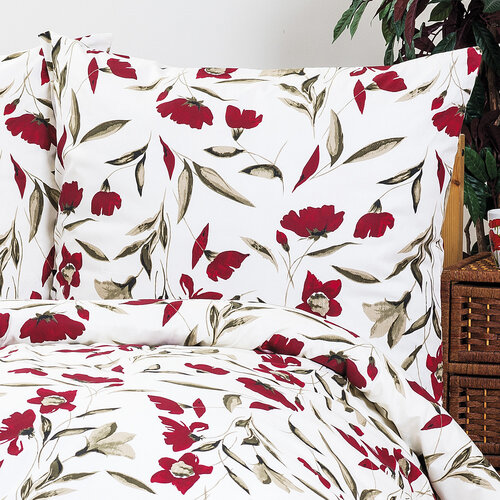 4Home bavlnené obliečky Vlčí maky, 140 x 220 cm, 70 x 90 cm