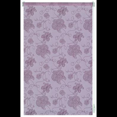 Roleta easyfix Výšivka růžová, 114 x 160 cm