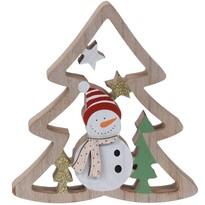 Koopman Karácsonyi dekoráció Snowman's tree, 17 cm