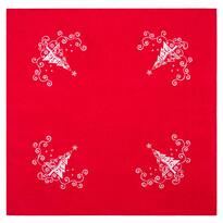 Obrus Vianočný stromček Ornament červená, 85 x 85 cm