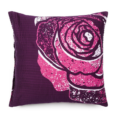 Povlak na polštář krepový satén Mary Rose pink, 40 x 40 cm