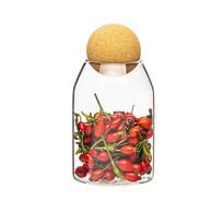 4Home Pojemnik szklany do żywności z korkiem Cork, 700 ml