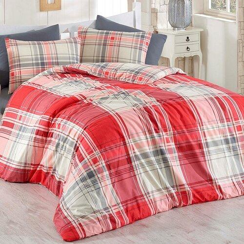 BedTex Bavlněné povlečení Alexia červená, 220 x 200 cm, 2 ks 70 x 90 cm, 220 x 200 cm, 2 ks 70 x 90 cm