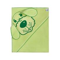 New Baby Kutyusos kapucnis törölköző, zöld, 100 x 100 cm