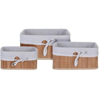 Sada bambusových košíkov Tavira, 3 ks