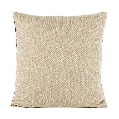 Poszewka na poduszkę-jasiek płóciennabordowy, 40 x 40 cm