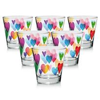 Mäser Love Rainbow 6 részes üvegpohár készlet, 250 ml