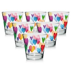Mäser Komplet szklanek Love Rainbow 250 ml, 6 szt.mix kolorów,