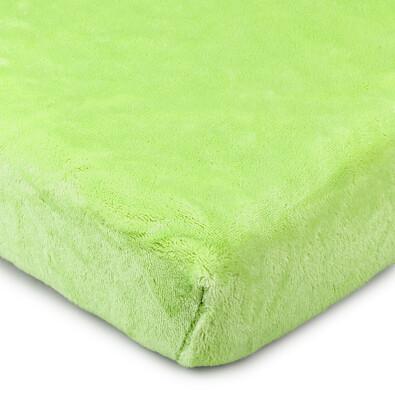 Cearşaf microflanelă 4Home, verde,90 x 200 cm