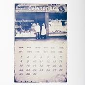 Kovový kalendář retro design