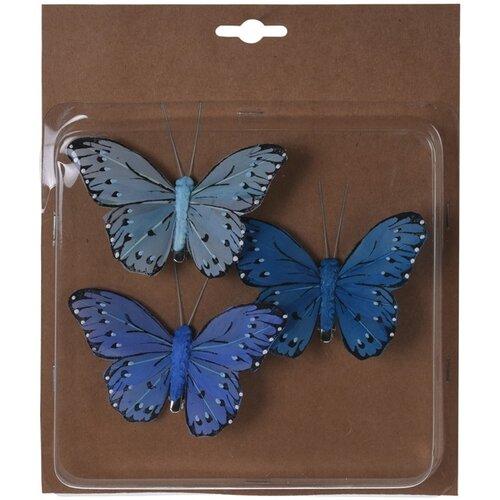 Koopman Sada motýlů na klipu modrá, 10 cm