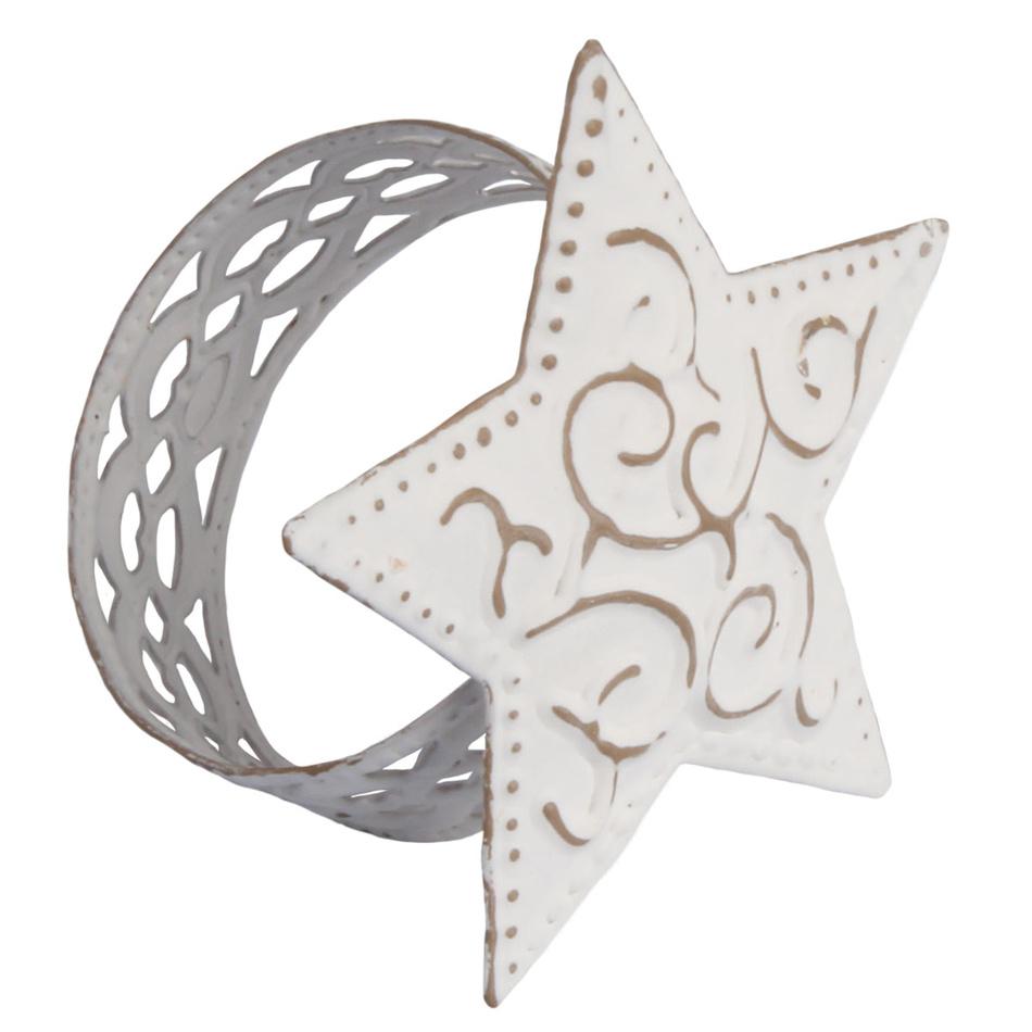 Držák na ubrousky Hvězda, bílá