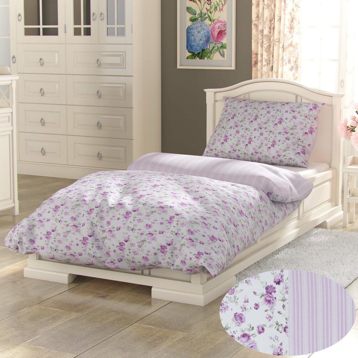 Kvalitex Bavlněné povlečení Provence Viento růžová, 140 x 200 cm, 70 x 90 cm