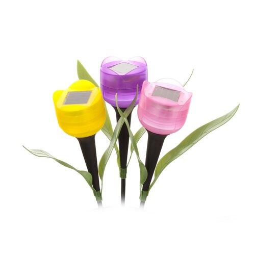 Solární lampa Tulipán, 30,5 cm