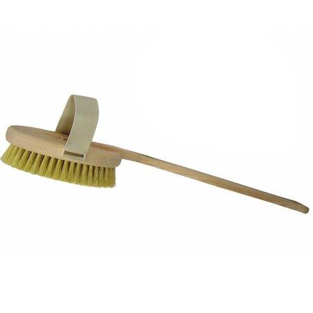 Dřevěný kartáč na mytí zad s odnímatelnou rukojetí, 45 cm