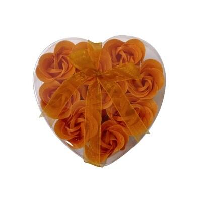 Mýdlové květy, 9 ks, oranžová