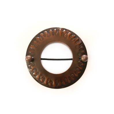 Klamra spinka dekoracyjna Koło brąz, 12 cm