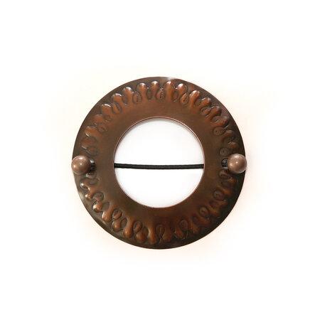 Dekoračná sponka Kruh bronzová, 12 cm