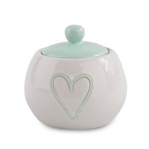 Keramická cukřenka Heart, sv. zelená