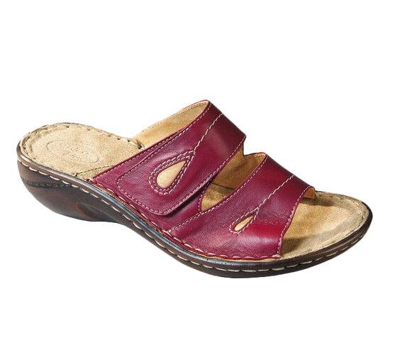 Orto Plus Dámská vycházková obuv na klínku vel. 38 červená