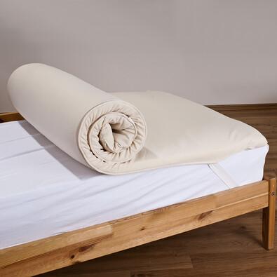 Chránič matrace z paměťové pěny, béžová, 90 x 200 cm