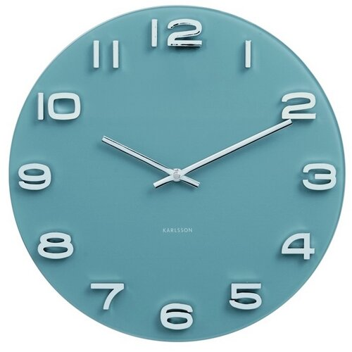 Karlsson 5640BL Designové nástěnné hodiny, 35 cm